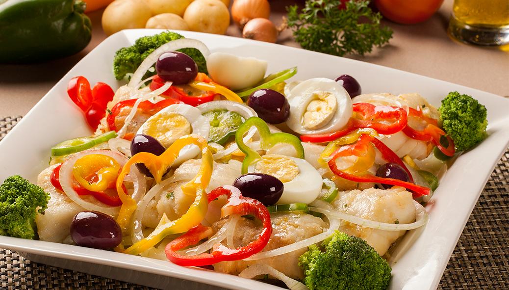 Bacalhau ao Azeite e Legumes
