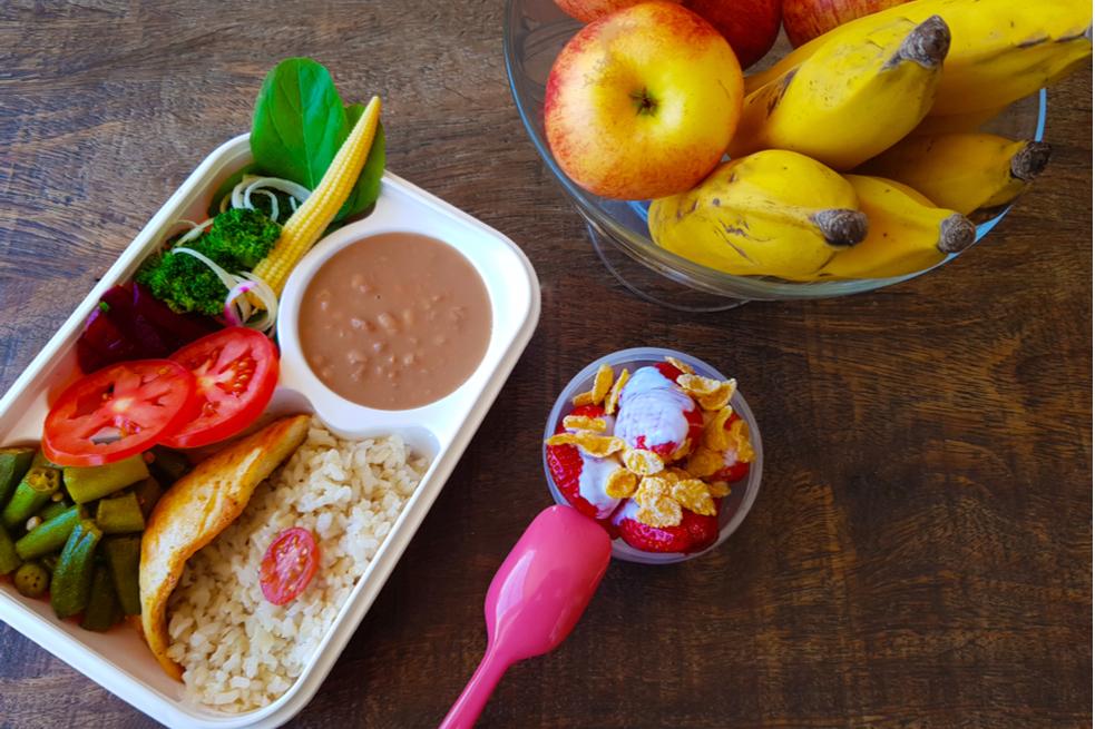 marmita saudável frutas e legumes