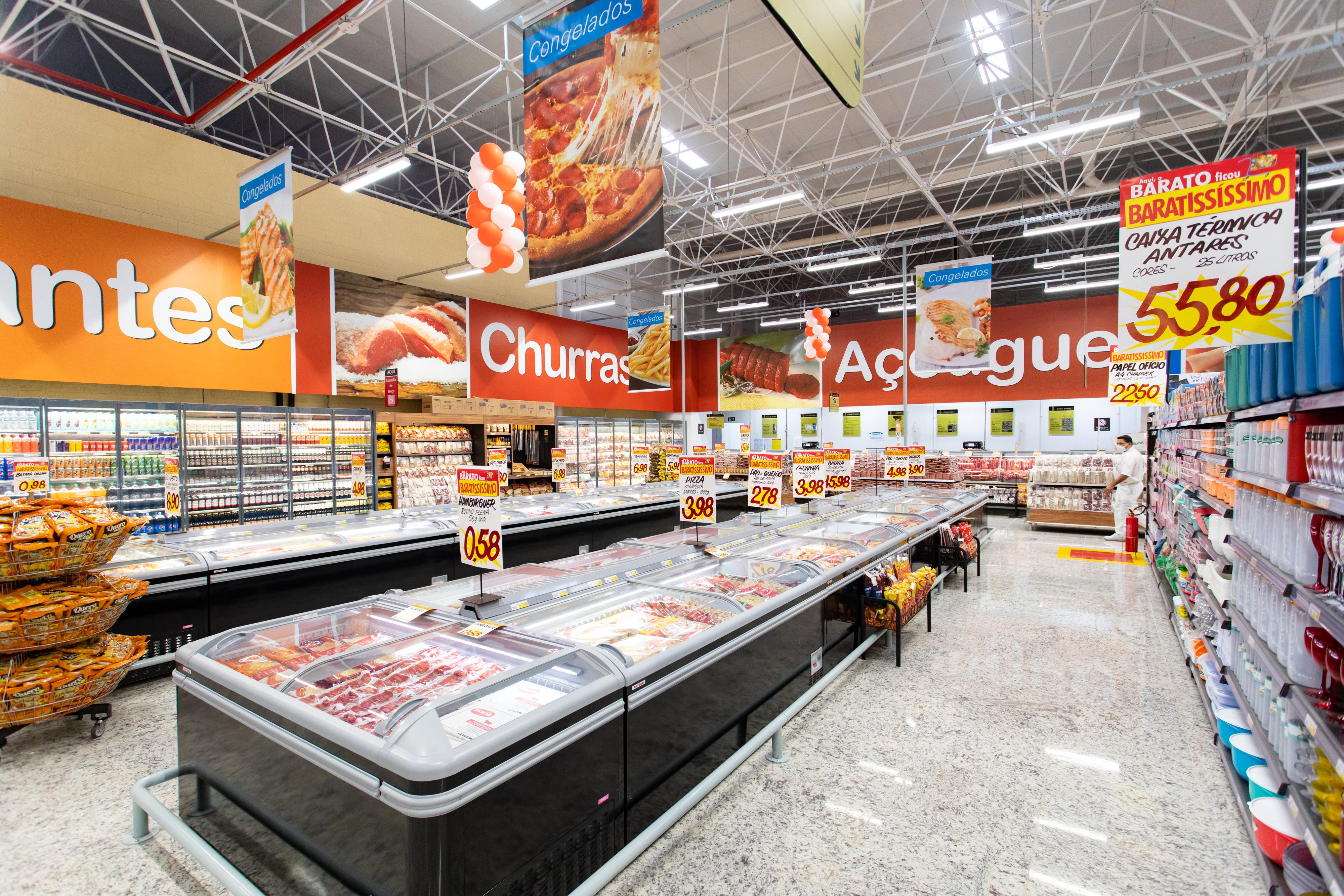 inauguração supermercado