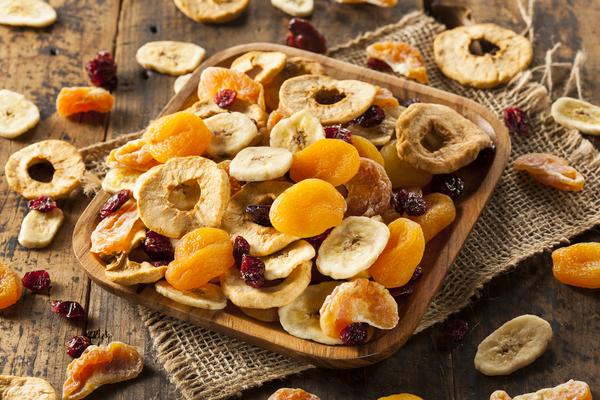 frutas desidratadas feitas em casa