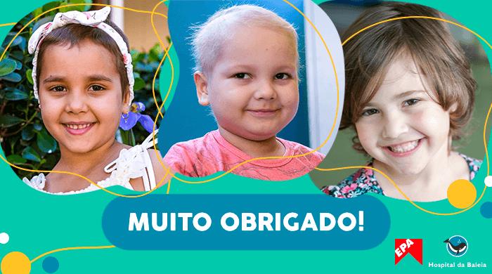 crianças agradecem colaboração EPA Hospital da Baleia
