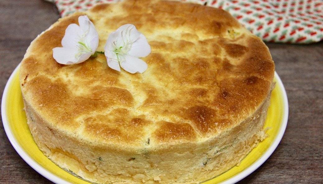 Torta de Palmito e Requeijão